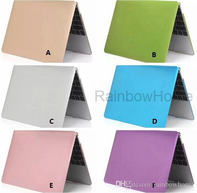 Plastic Crystal Case Cover Protective Shell for Macbook Air Pro Retina 11 12 13 15 inch Fuel Injection Metal Texture Cases