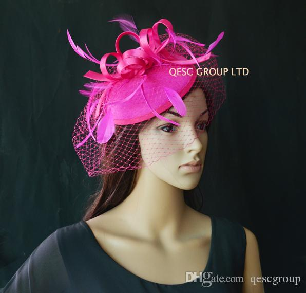 NOVO feltro Fascinator kentucky derby chapéu para chá de corridas de casamento party.red, prata, pó azul, rosa coral, rosa quente, roxo, marfim, preto.