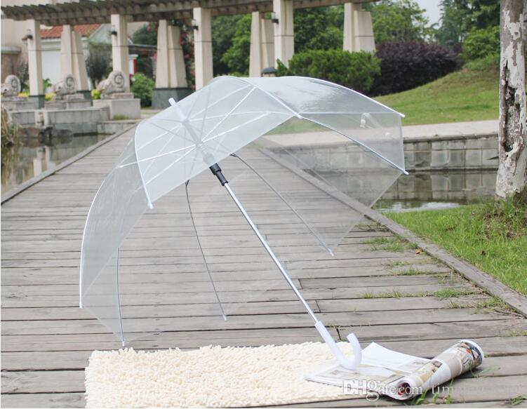 Elegante simplicidade Bolha Profundo Dome Umbrella Apollo Transparente Umbrella Girl o guarda-chuva globo transparente transporte gratuito
