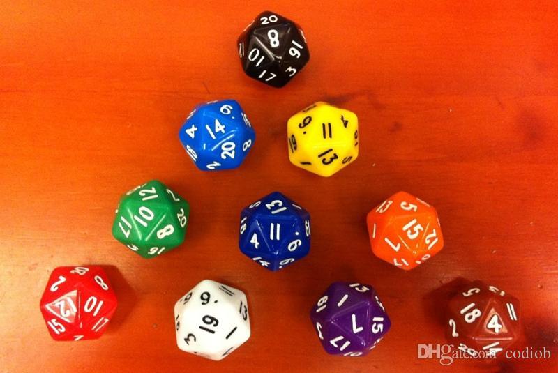 D20 Dice 20-сторонние многогранные кубики Многоцветные бозоны Детские развивающие игрушки DD RPG Игра-игрушка Настольная игра Acessorios Entertainment # P37