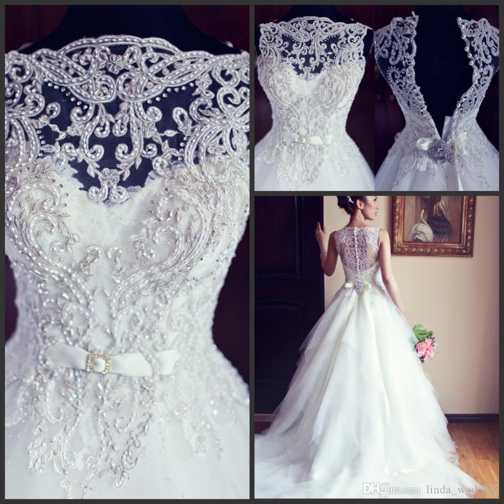 2016 Designer Princess Wedding Dresses Vintage Real Sample Ball Gown
