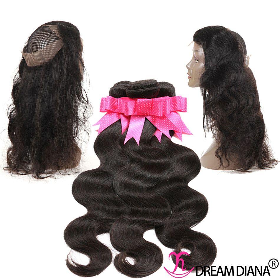 Brazilian Human Hair Elastic Band Lace Frontal Closure Body Wave