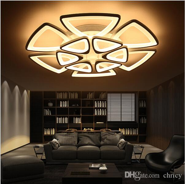2017 new design modern ceiling lights remote control living room bedroom modern led ceiling. Black Bedroom Furniture Sets. Home Design Ideas