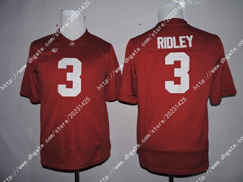 Alabama Crimson Tide 9 Бо Scarbrough # 1 Ник Сабан 2 Деррик Генри # 3 Ридли Америка Американский футбол белый Джерси Вышивка логотипов прошитой