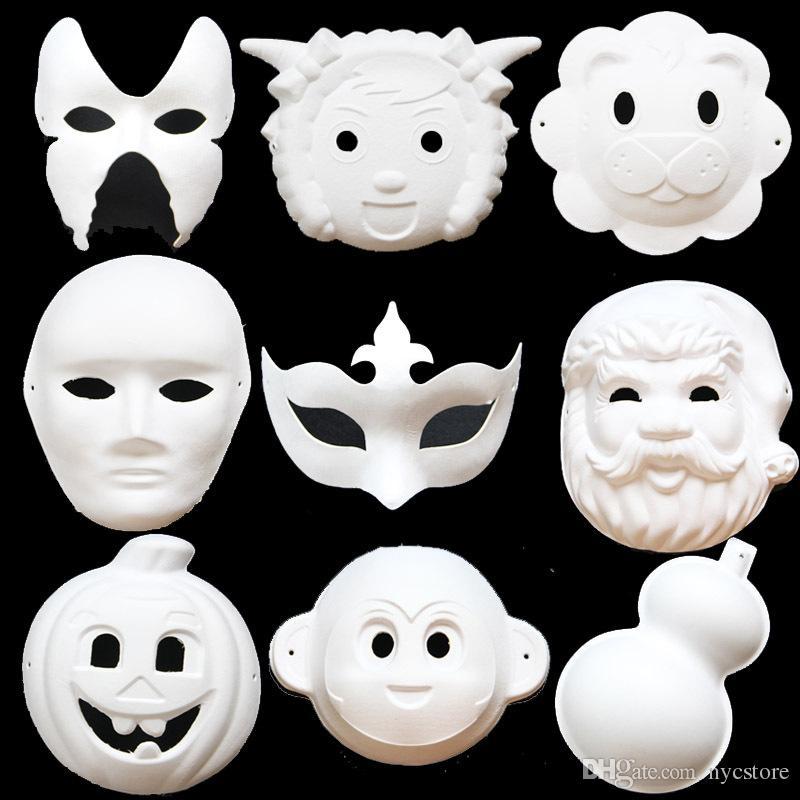 Satın Al Diy Boş Maske El Boyalı Anaokulu çocuklarda Boyama Beyaz