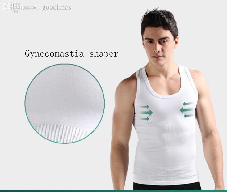 7ad27f1cb859f Wholesale-Chest Hot Gynecomastia Body Shaper Tops Compression Men ...