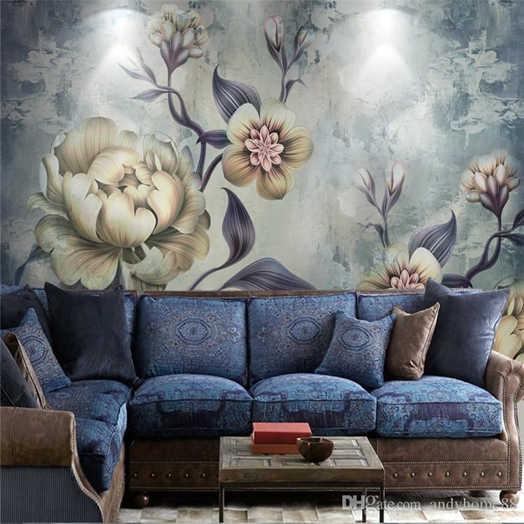 3d retro american wallpapers bedroom living room tv background