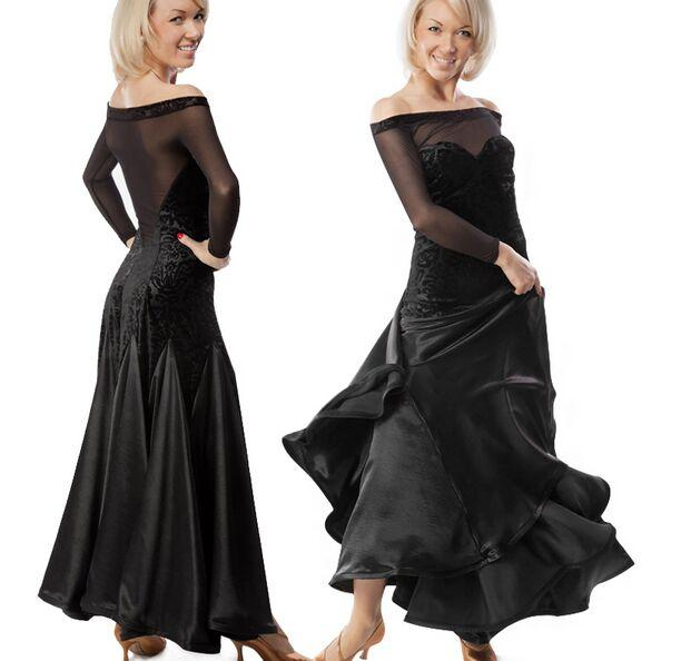 Por encargo 2018 nuevos vestidos de vals de salón de baile Leopard Lady Ballroom Dance Wear Vestidos de Festas Disfraces marinos para mujeres