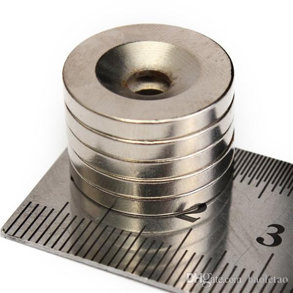N50 20x3mm forte ronde aimants anneau fraisés aimant 5mm trou de terre rare aimant néodyme