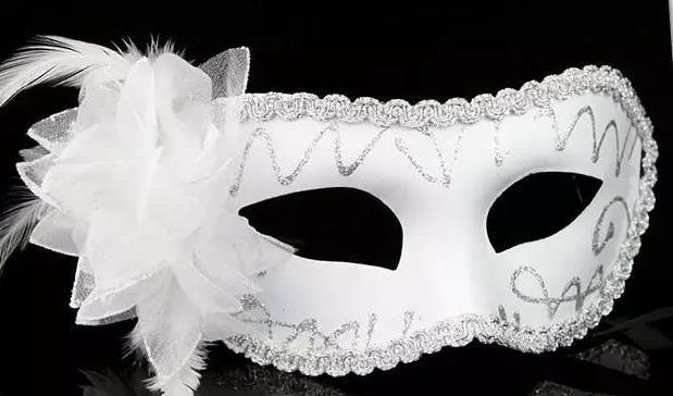 Moda Donna Sexy maschera Hallowmas veneziana maschera mascherata maschere mascherate con fiore di piume maschera di Pasqua festa da ballo maschera festa trasporto di goccia