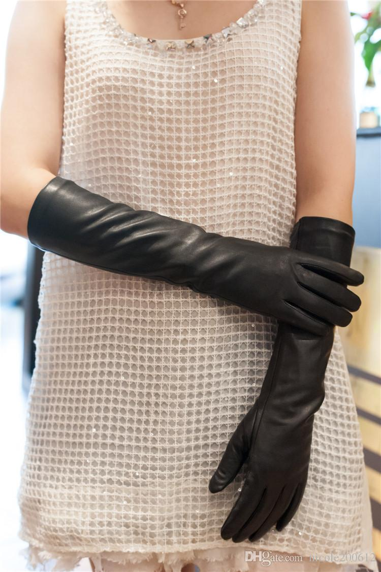 Womens leather gloves with touch screen fingers -  Women S Lady S Top Goat Leather Touch Screen Winter Warm Gloves Top Goat Leather Gloves