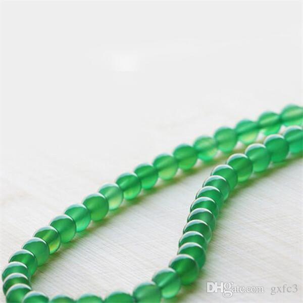 New Natural Green Agata Catena Agata Fatti a mano Collana perline diy gioielli di giada Fashion Donne Donne Decorazione regalo