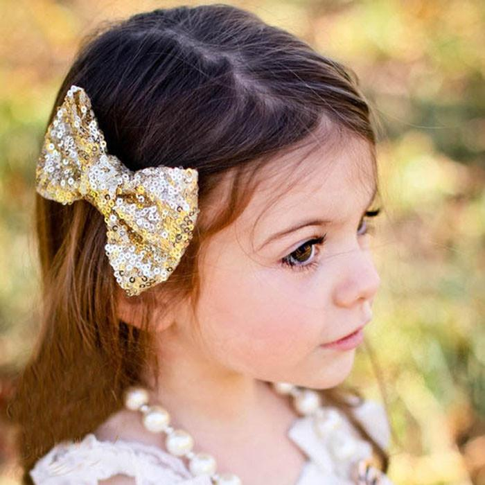Candy Colors 2016 Hot New Children Sequin Barrettes Cute Baby Girl Big Bow Clips Boutique Hair Pin Luxury Girls Hairpin Childrens Wedding Accessories