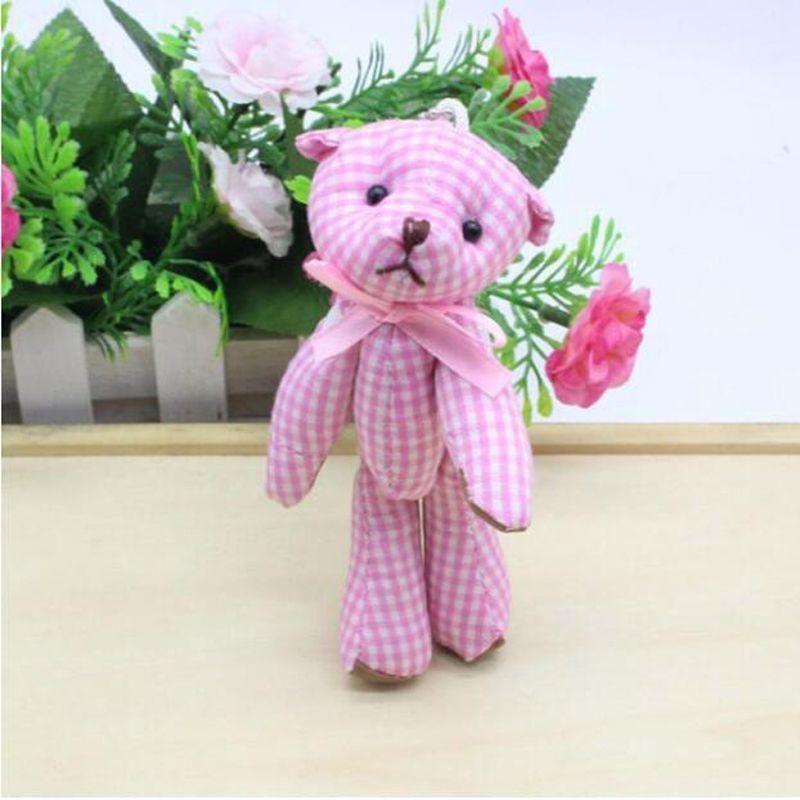 Kawaii Küçük Ortak Oyuncak Ayılar Dolması Peluş 11 CM Oyuncak Teddy-Bear Mini Ayı Ted Ayılar Peluş Oyuncaklar Düğün Hediyeleri 6 Adet / grup 045