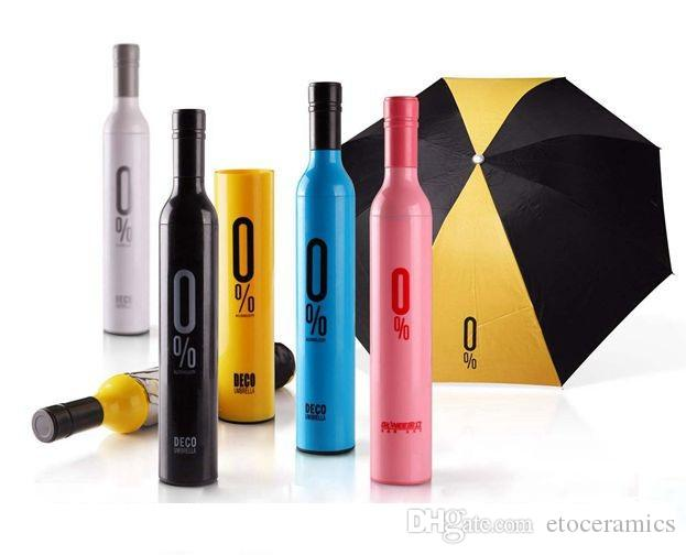 Garrafa guarda-chuva moda guarda-chuvas garrafa de vinho guarda-chuva guarda-chuva 3-Folding moda estilos criativos para a escolha de envio rápido via Fedex