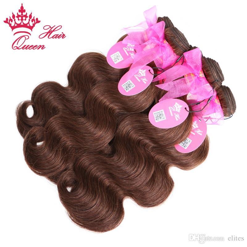 Tessuto dei capelli umani vergini brasiliani di colore naturale del corpo di Wave / # 2 di colore naturale dei capelli della regina 14