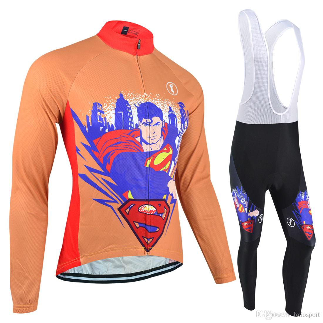 4ff954625 BXIO Brand Cycling Jersey Long Sleeve Cycle Jersey Full Zipper Orange  Cycling Pro Team Jersey Mens Have Winter Thermal Fleece BX-003 Long Sleeve  Cycle ...