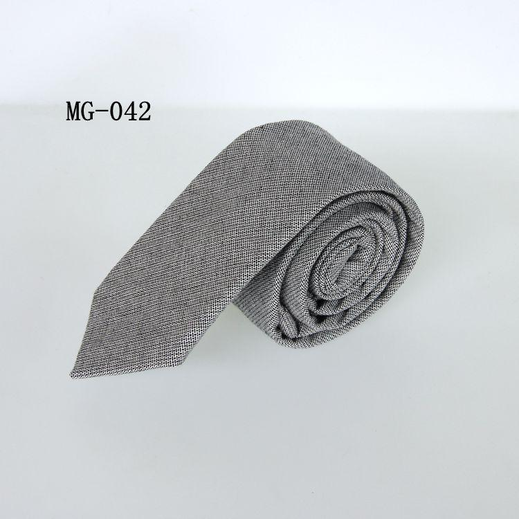 6cm business tie for men plaid necktie cotton neck tie skinny grey neckties for suit men's neckwear