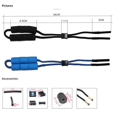natação e pesca eyewear óculos de esporte resistente ajustável strap bóia flutuante retentor de cabos com silicone flutuadores tubo final