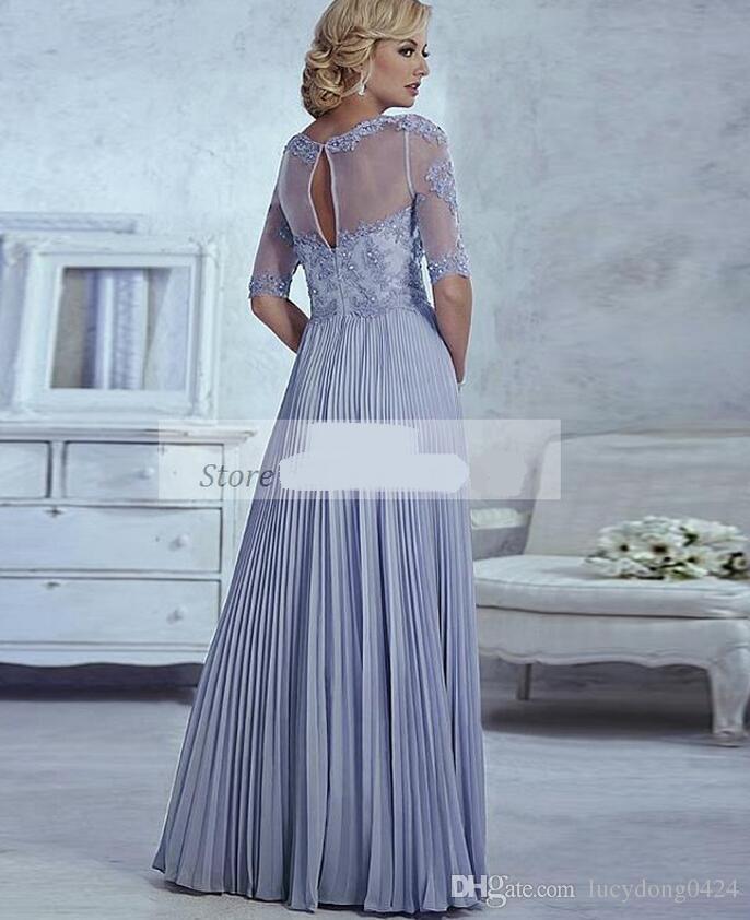 Mãe elegante da noiva vestidos meia manga apliques moda feita personalizada mulheres elegantes uma linha vestido de festa de casamento