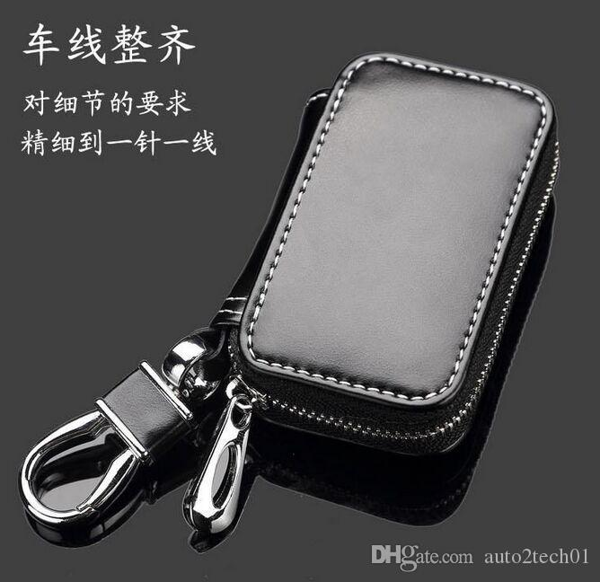 Leather Car Key Case Chevrolet Key Bag Remote Auto Bag Chains Holder Zipper for Chevrolet key bag Cannot send to Illinois Chicago