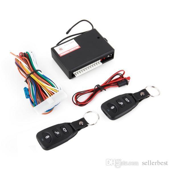 TSK-405 Car Auto Remote Kit central Bloqueo de puerta Bloqueo de vehículo Sistema de entrada sin llave Nuevo con controladores remotos Sin llave Bloqueo de entrada Desbloqueo