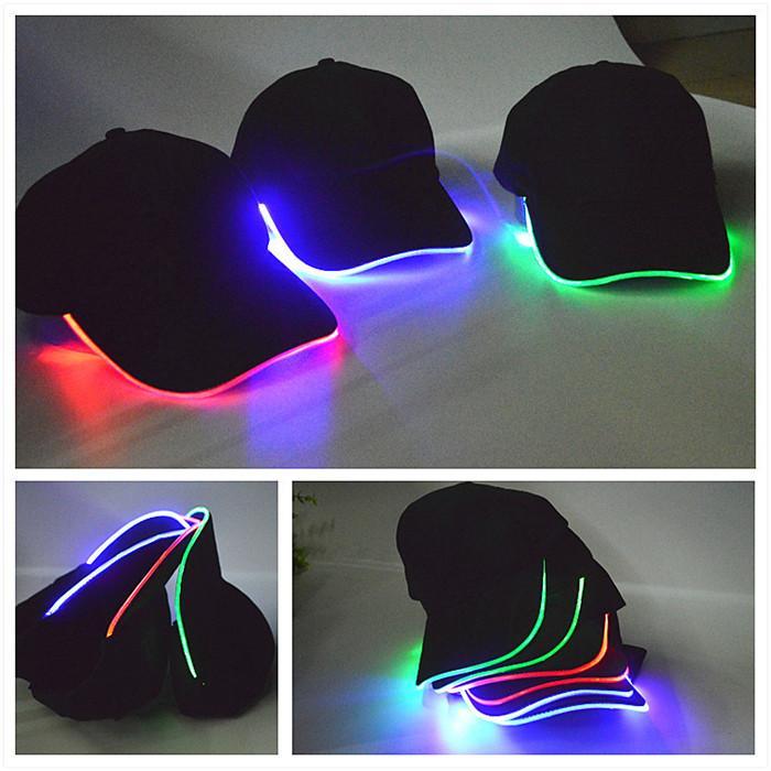 light adult ball hat cap baseball with led lights in brim uk caps built