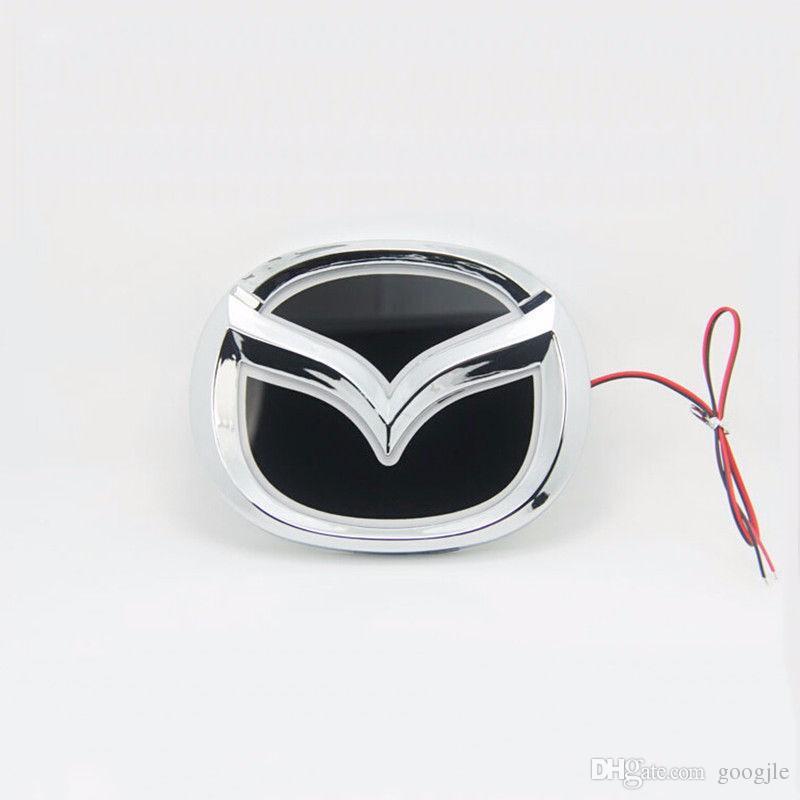Car Styling especial modificado branco / vermelho / azul 5D traseira do emblema do emblema Logo Luz Etiqueta lâmpada para Mazda 6 Mazda2 Mazda3 mazda8 Mazda CX-7