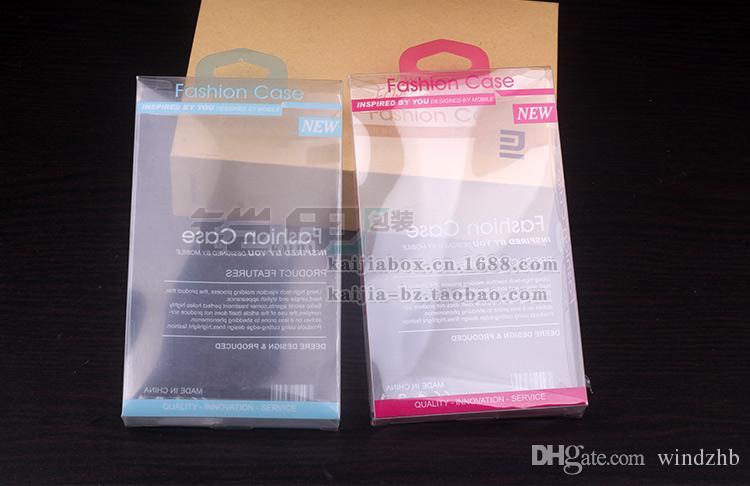 Contenitore di imballaggio di plastica di vendita al dettaglio universale custodia del portafoglio in pelle del telefono cellulare iPhone 7 6S 6 Plus 5 SE Bordo di Samsung S6 No Blister