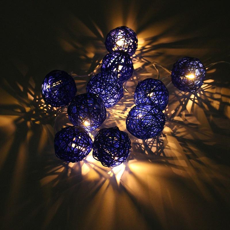 Wholesale 18m 10 rattans wicker balls led string lights fairy led wholesale 18m 10 rattans wicker balls led string lights fairy led outdoor light wedding party decor waterproof ip44 eu plug ac220v wholesale string lights aloadofball Choice Image