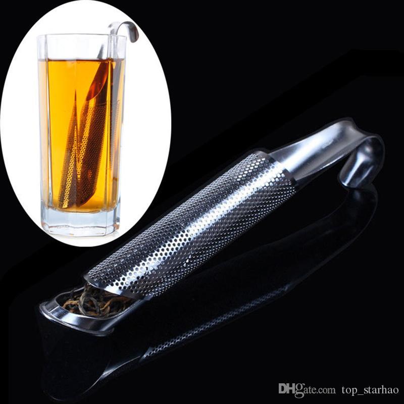 2017 New 304 Stainless Steel Tea Leaf Strainer Infuser Tea Pipe Filter Sticks Free DHL XL-177