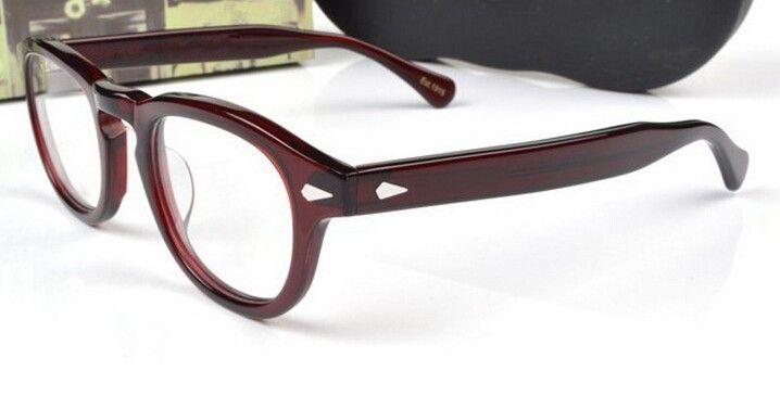 Gafas de Sol Gafas Johnny Depp Marca de los vidrios de calidad superior redonda marco de las lentes hombres y mujeres miopía ojo marcos de los vidrios del envío libre