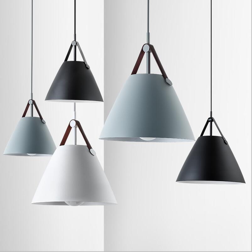 European Design Denmark Strap Simple Grey Pendant Lights Lamps 27 ...