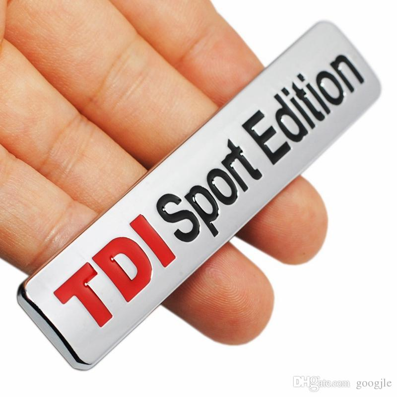 Metal Red TDI Sport Edition Logo Turbo Car Letter Sticker Emblem Chrome Badge Decals for VW POLO GOLF CC TT JETTA GTI TOUAREG