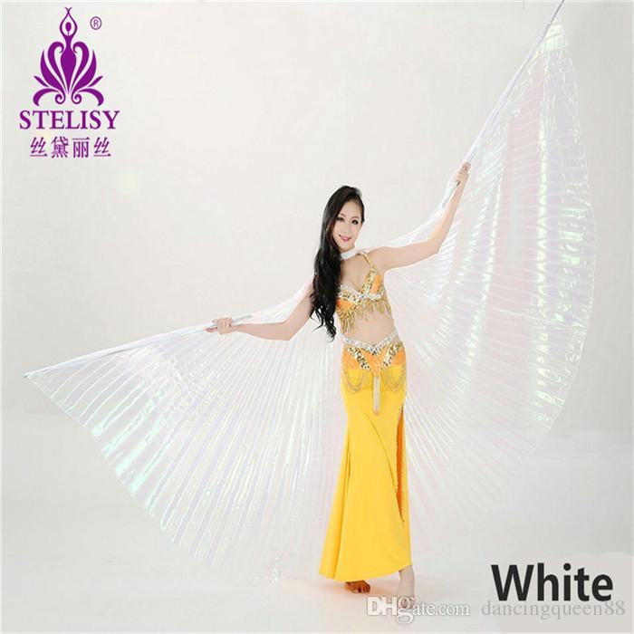 2018 Adult belly dance wear wings silver props indian dance wings belly dance performance wears Angle Wings Egyptian no stick