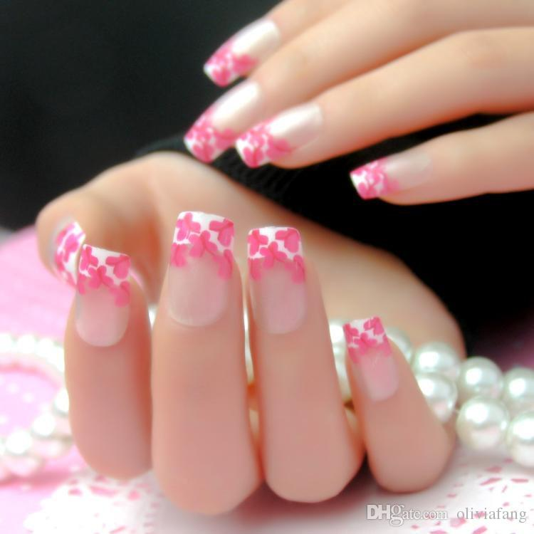 Dorable French Color Nails Photo Inspiration - Nail Paint Design ...
