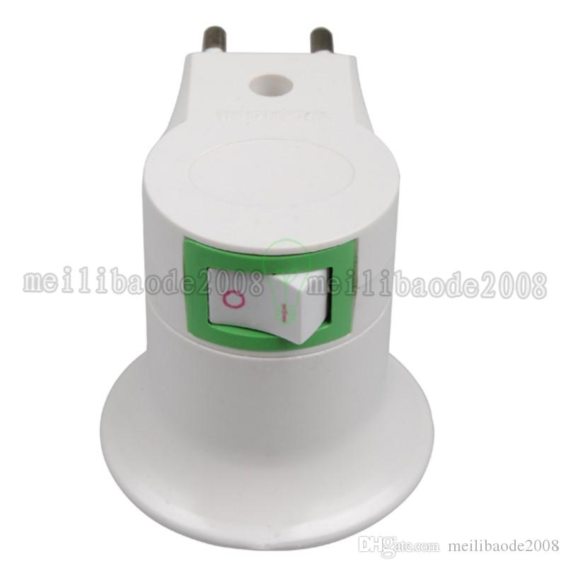 High Quality White E27 Base Socket EU Plug Night Light With Power On-off Control Switch MYY