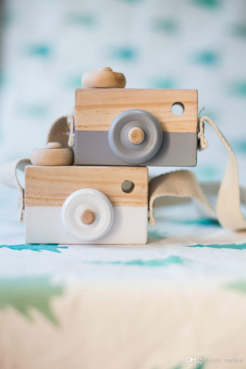 es Niños de madera Cámara de Navidad Niños fresco viaje Mini juguete Bebé lindo Seguro Natural Regalo de cumpleaños decoración de la habitación de los niños