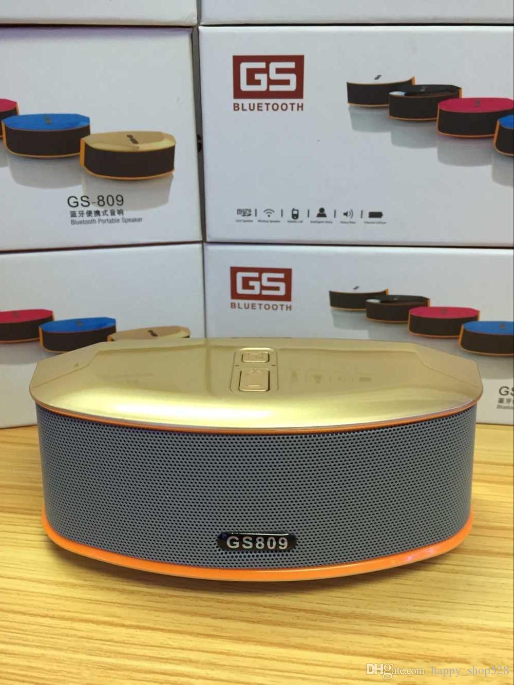 Altavoz Bluetooth mejor Calidad GS809 Bluetooth Altavoz portátil Lector de tarjetas TF Manos libres Bluetooth Altavoz inalámbrico Reproductor de audio portátil USB