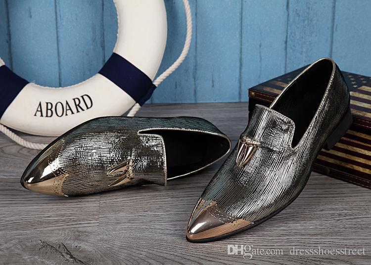 Nouveaux Hommes Mode Britannique Style Slip-on Flats Chaussures En Cuir Conduite Chaussures Mocassins Mâle Bateau Mocassins Chaussures Hommes