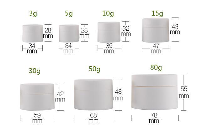 매트 화장품 병 15g, 흰색 PP 포장 병 빈 로션 Batom 컨테이너는 반복적으로 / lot를 사용할 수