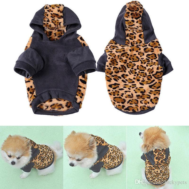 Cat Dog Clothes Pet Hoodie Winter Apparel Puppy Supplies Small Large Dog Sweater With Leopard Camouflage