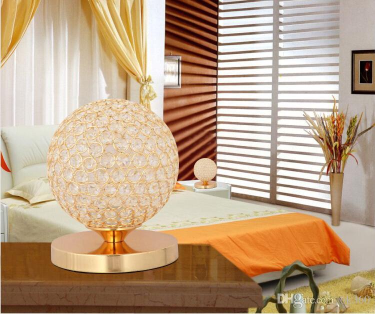 K9 Crystal Table Lamp Light stainless steel Bedside Cabinet Lights Decoration Lighting For Study Bedroom E27 Bulb AC85-240V