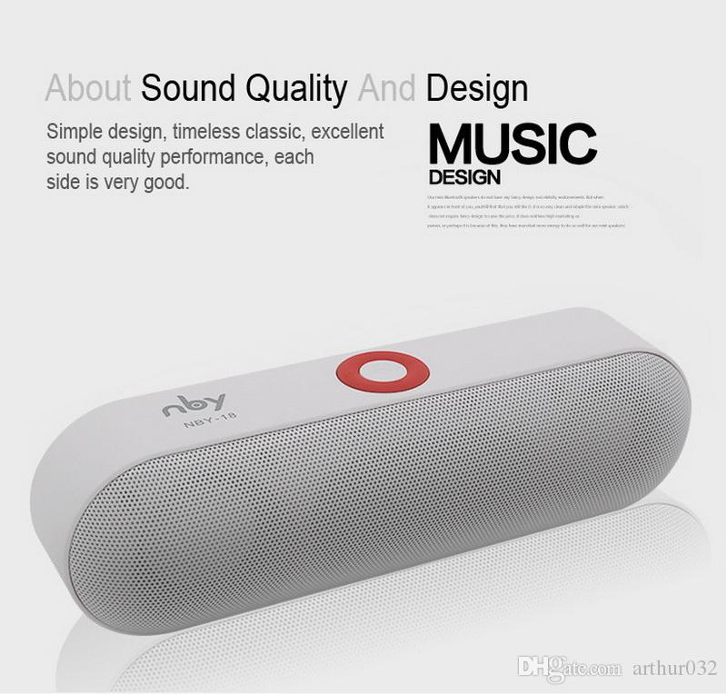 Pille Lautsprecher NBY-18 Mini Bluetooth Lautsprecher Tragbare drahtlose Lautsprecher Sound System 3D HD Stereo Surround Boombox Musik FM TF AUX USB