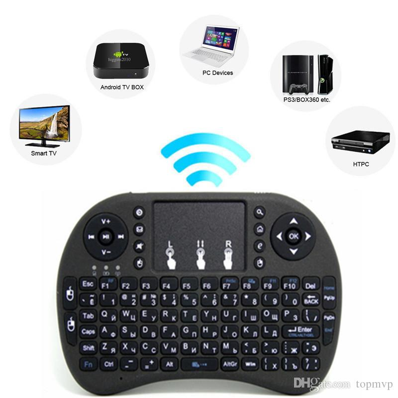 f98f57f45bd DHL Free Rii Mini I8 Fly Air Mouse WIFI Wireless Mouse Pad Keyboard With  Touchpad Remote Control Flymouse For Andriod TV BOX Black Remote Desktops  Remote ...