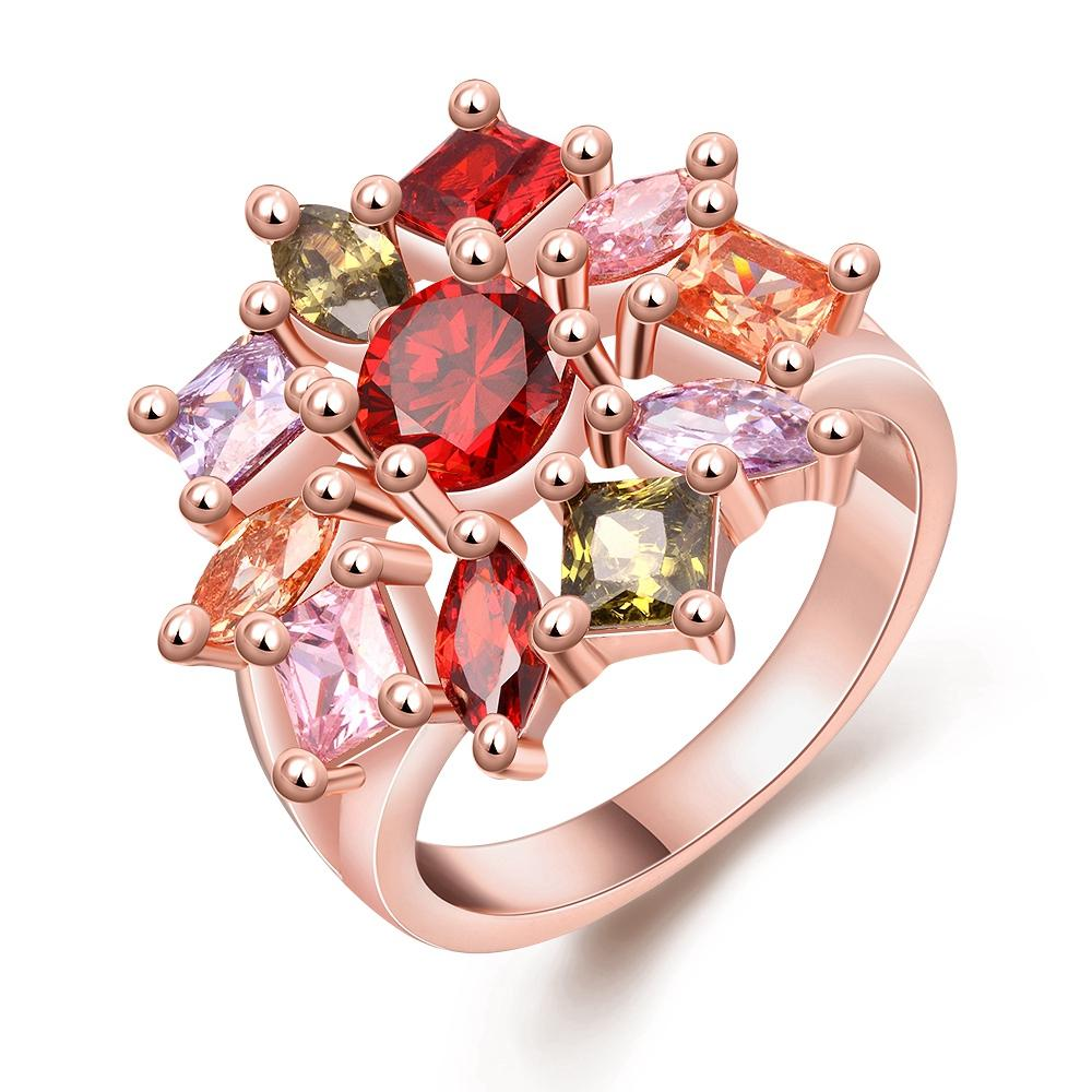 2018 2017 Trendy Crystal Colors Rose Gold Cubic Zircon Explosions ...