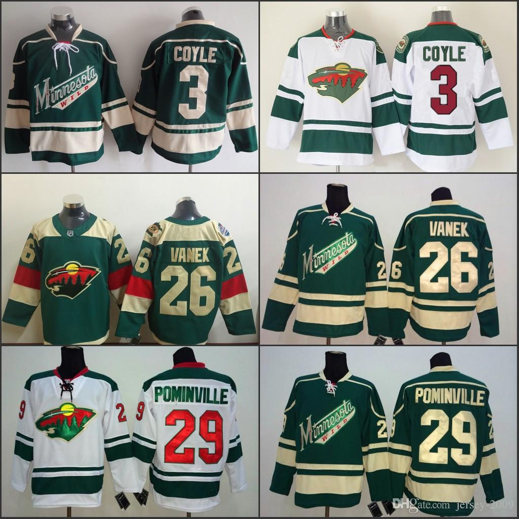 cfe922e20 2016 Stadium Series Minnesota Wild 3 Charlie Coyle 26 Thomas Vanek 29 Jason  Pominville Hockey Jerseys Home Red White Green Stitched S 3XL UK 2019 From  ...
