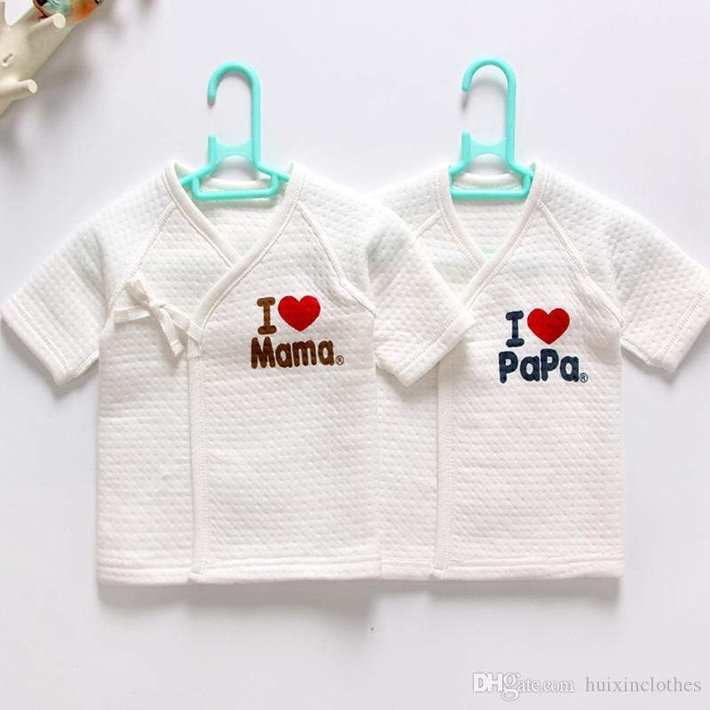new born baby clothes thermal underwear long sleeve cotton 0 3 months infant tank tops thicken tie kids monk clothes without fluoresce baby pajamas thermal