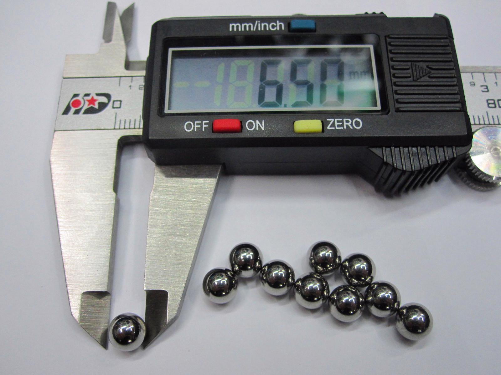 Diámetro de la bola de acero de la bola del cojinete de bolas de acero cromado de 6,5 mm 6.5 mm / set Precisión: G10-Grade
