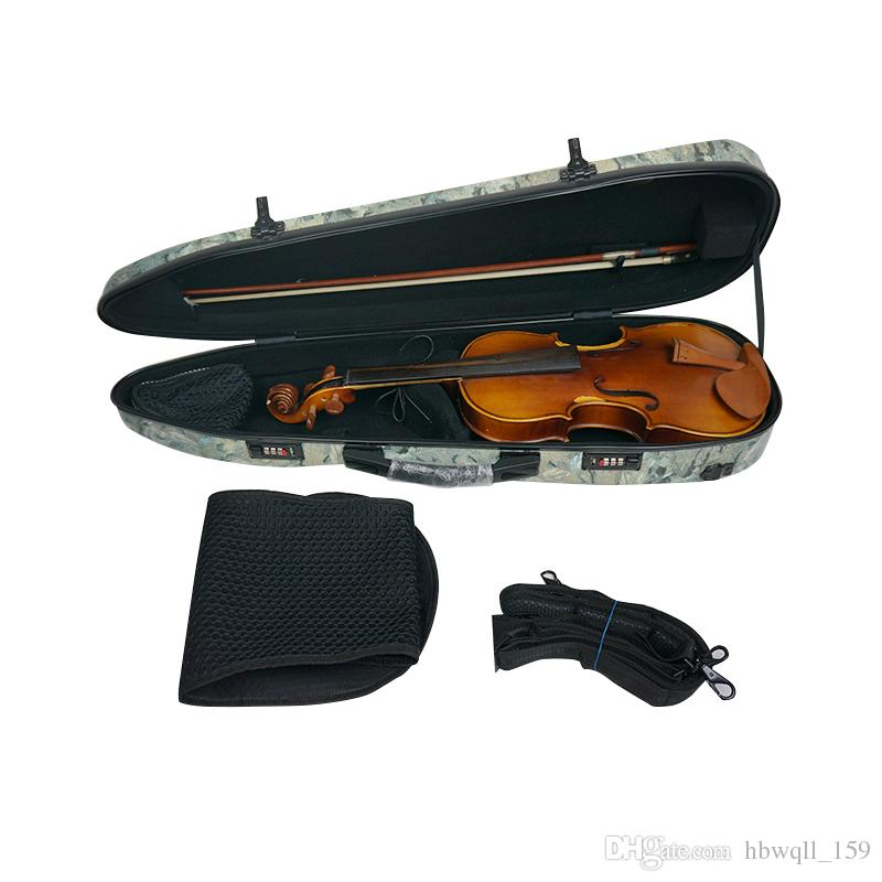 The violin box new imitation wood composite carbon fiber 4/4 violin case super light pressure